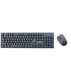 Kit tastatura +mouse wireless Well CW101BK negru