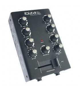 Mixer 2 canale 2 intrari de linie 1 intrare microfon ibiza