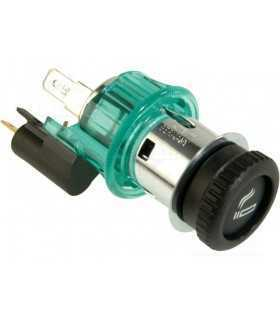 Adaptor mufa mama bricheta auto x1 10A 12÷24VDC verde PRO CAR 68131100