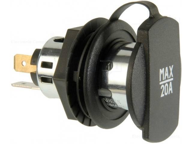 Adaptor mufa mama bricheta auto x1 20A 12?24VDC PRO CAR 68140800