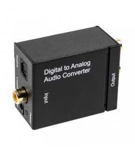 Adaptor audio DIGITAL TOSLINK la ANALOG 2x RCA mama-mama