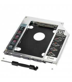 SSD HDD CADDY SATA2 12.7mm Cadru de montare pe unitatea hard disk de 2.5 inch