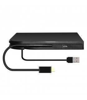 Carcasa DVDRW 9.5mm USB/USB Type C la SATA fara unitate optica