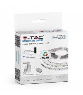 Set Banda LED SMD5050 8mm 60 RGB 10W/m WIFI SMART compatibil cu Alexa & Google Home IP20 5m V-TAC
