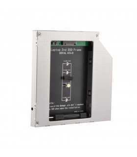 SSD HDD CADDY MSATA+M.2 12.7mm Cadru de montare pe unitatea hard disk de 2.5 inch
