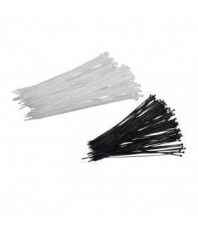 Coliere plastic Fasete legatura UV rezistente albe 2.5x100mm 100buc Proline
