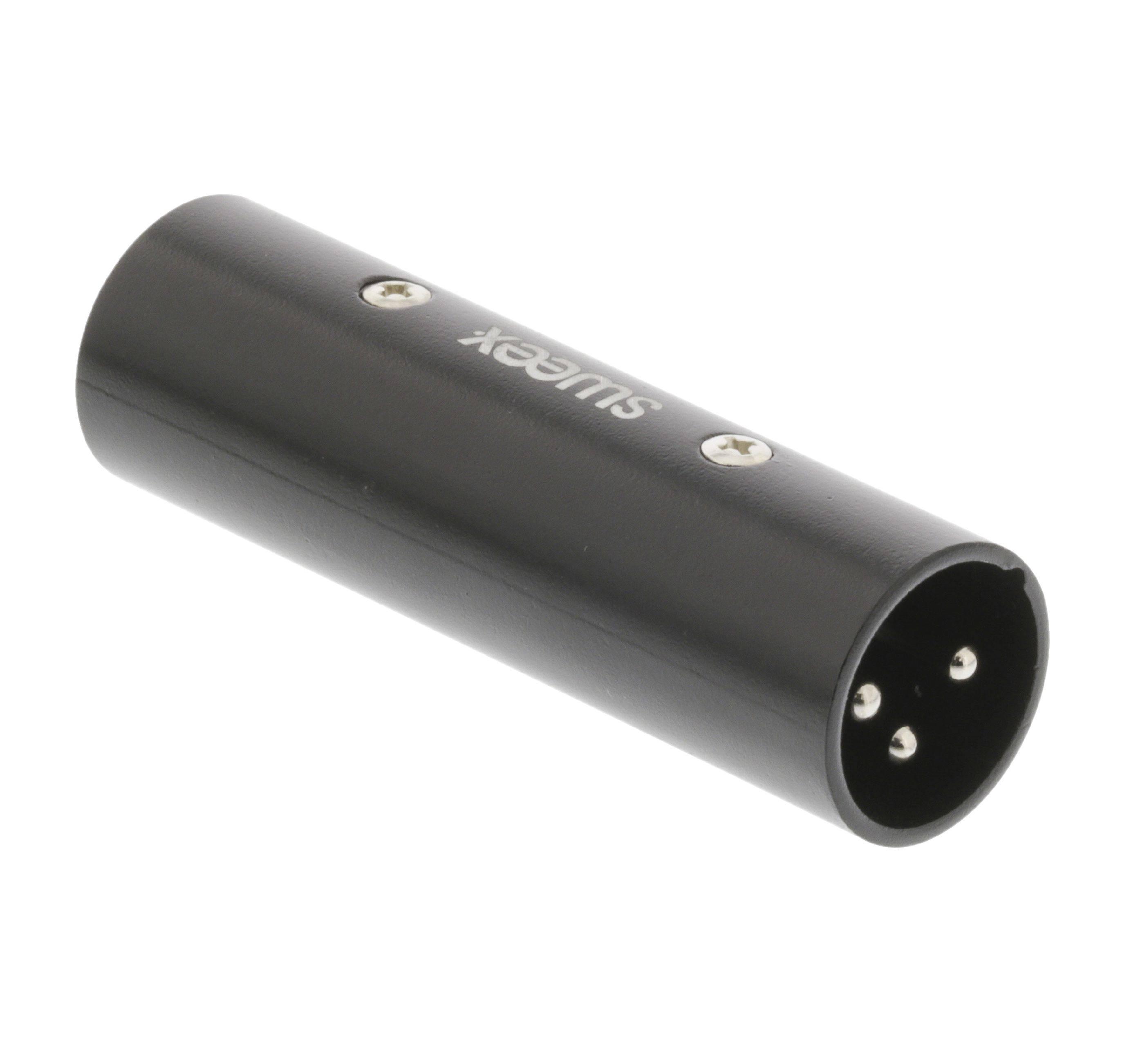 Adaptor XLR 3 Pin tata - XLR 3 Pin tata negru Sweex