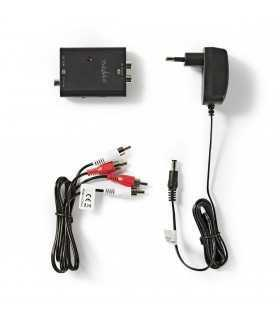 Convertor digital audio stereo RCA TOSLINK mama optic +RCA SPDIF mama - 2x RCA mama Nedis