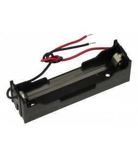 Suport acumuator MR18650 x1buc cu cablu terminal 150mm COMF BHC-18650-1A
