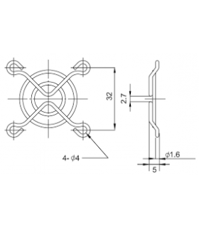 Protectie 40x40mm pentru ventilator Material metal Fixare cu surub negru TQSolution