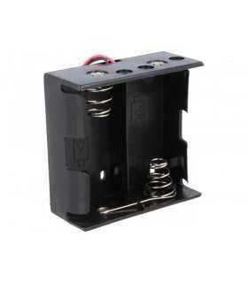 Suport baterii D R20 x2buc cu terminal cablu 150mm COMF BH-121-1A