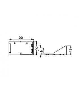 BH-9V A Suport baterie 9V 6F22 6LR61 x1buc cu terminal cablu 150mm COMF