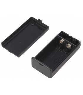 SBH-9VA Suport baterie 9V 6F22 6LR61 x1buc cu terminal cablu 150mm COMF
