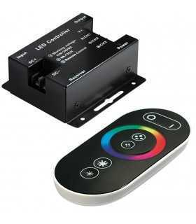Controler LED 18A control iluminare RGB Canale 3 neagra OPTOFLASH CTR-RGB-6A-02