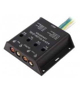 Convertor nivel semnale audio 40W Intrare cabluri iesire 4x RCA aurit 4CARMEDIA