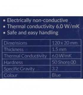 Pad termic Arctic 6W/mK grosime 1.5mm 120x20mm set 2buc