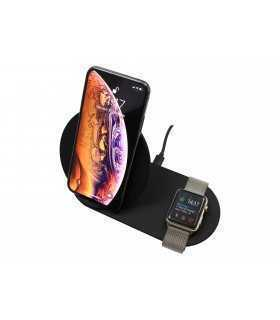 Incarcator fara fir telefon QI FAST CHARGE 2 in 1 input 5V 3A 9V 2A 5W negru N26-1 Black