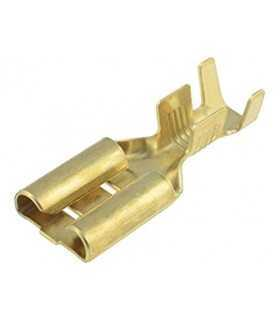 670.08.00.9 Terminal papuc plat 6.3mm 0.8mm mama 1/2.5mm2 crimpat pe cablu IMP