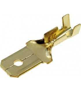 Terminal papuc plat 6.3mm 0.8mm tata 0.5/1mm2 crimpat pe cablu BM GROUP BM 01180