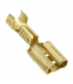 Terminal papuc plat 6.3mm 0.8mm mama 0.5/1mm2 crimpat pe cablu BM GROUP BM 01190