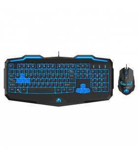 Kit tastatura si mouse gaming Newmen 808 negru Open Box