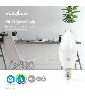 Bec LED Smart WiFi reglare culoare lumina E27 Nedis