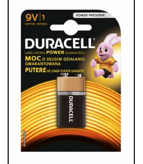 Baterie alcalina DURACELL 9V 6LR61 MN1604