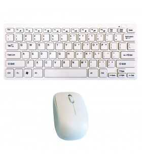 Tastatura +mouse Wirelees mini alba TED