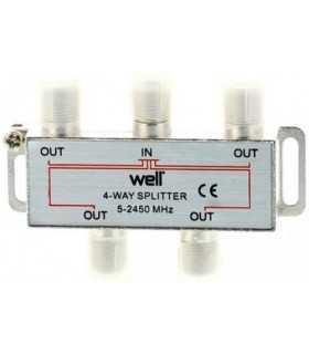 Splitter CATV 4 iesiri 5-2450Mhz Well
