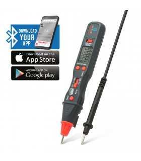 Multimetru digital SMART cu conexiune Bluetooth model stilou Maxwell