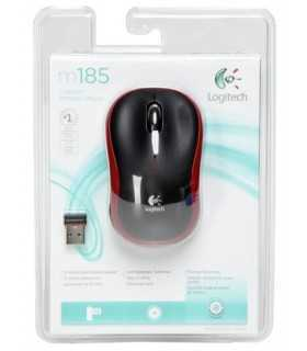 Mouse wireless M185 rosu Logitech