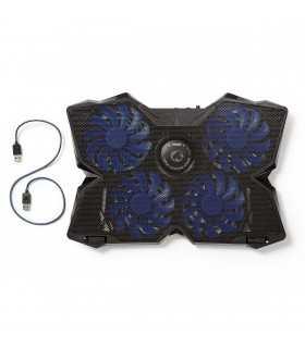 """Cooler Laptop Gaming cu 4 ventilatoare compatibil 15-19"""" USB Nedis"""