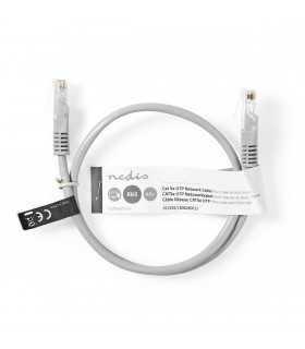 Cablu UTP Nedis Cat5e mufat 0.5m patch cord gri