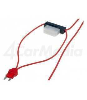Splitter auto ATM 8A siguranta mini x1 0.75mm2 culoare rosu 4CarMedia