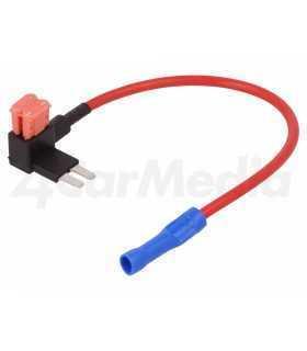 Splitter auto micro 10A 2 sigurante micro 1mm2 culoare rosu 4CarMedia