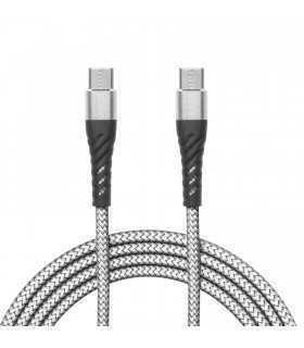 Cablu de date USC Type C - USB Type C alb 1m delight