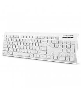Tastatura USB Waterproof alba SINGAPORE ESPERANZA