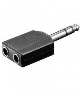 Adaptor Jack 6.35mm stereo la 2x6.35mm stereo mama Goobay