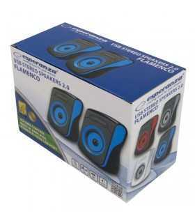 Boxe STEREO 2.0 negru-albastru FLAMENCO ESPERANZA