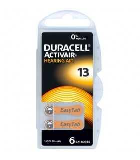 Baterii auditive 13 DURACELL Zinc-Air 1.45V PR48 6buc