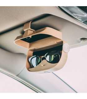 Suport auto pentru ochelari si carduri autoadeziv bej M'N'C