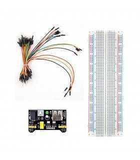 Set placa test breadboard 830 16.5x5.5x0.85cm +Set cabluri breadboard si alimentat
