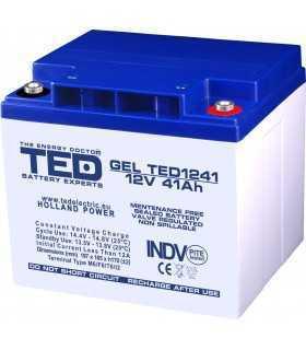 Acumulator 12V 41A GEL AGM VRLA 197x165x171mm M6 TED Battery ExpertHolland