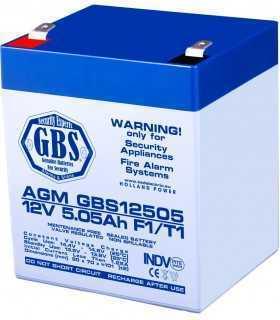 Acumulator 12V 5.05A AGM VRLA TED pentru sisteme de securitate F1 GBS