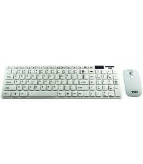 Tastatura + mouse Wireless alb ULTRA-THIN FASHION TED TD920 65877