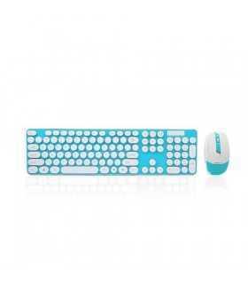 Tastatura albastru+alb TED-4 +mouse wireless TD88S 20799