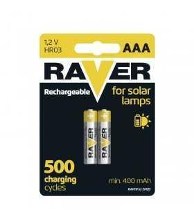 Acumulatori NIMH RAVER AAA R03 500mA 1.2V pentru lampi solare 2buc