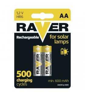 Acumulatori Ni-MH Mignon AA R6 1.2V 500mAh Raver pentru lampi solare Raver by Emos