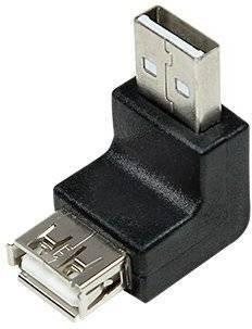 Adaptor USB 2.0 A soclu mama - USB A mufa tata in unghi LOGILINK