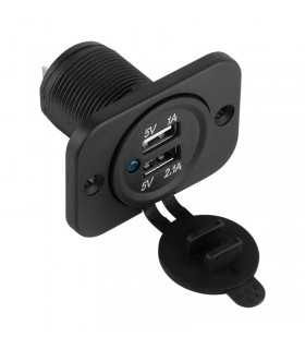 Mufa montaj bricheta auto incarcare 2x USB 3.1A(2A+1A) Peiying